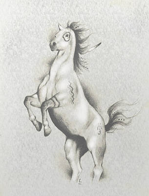 Spirit Horse Poster by Robert Martinez