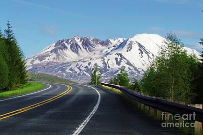Spirit Lake Highway To Mt. St. Helens Poster