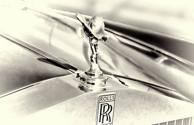 Spirit Of Ecstasy Classic Car Hood Ornament Poster by Ann Powell