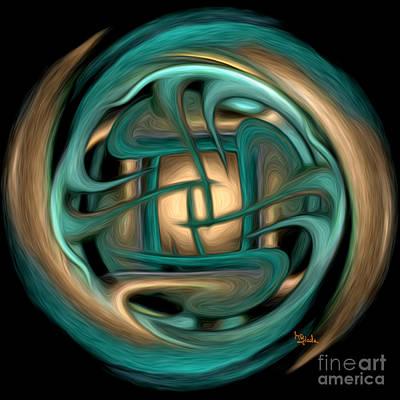 Spiritual Art - Healing Labyrinth By Rgiada Poster