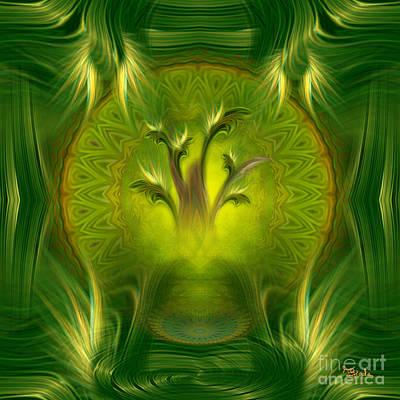 Spiritual Art - Tree Of Wisdom By Rgiada Poster