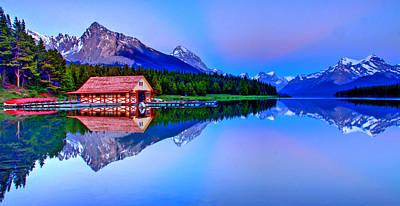 Spiritual Lake Poster