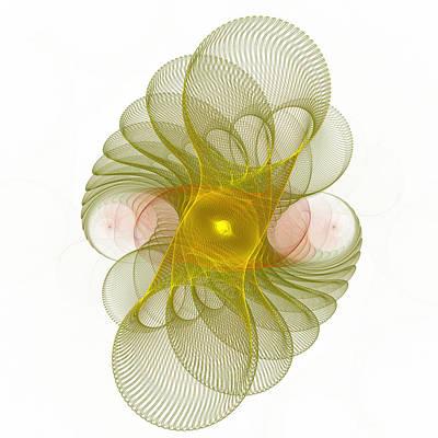 Poster featuring the digital art Spiro-girations by Richard Ortolano