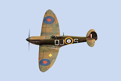 Spitfire Mk 1 R6596 Qj-s Poster