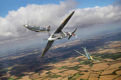 Poster featuring the photograph Spitfire Tr 9 Fighter Affiliation by Gary Eason