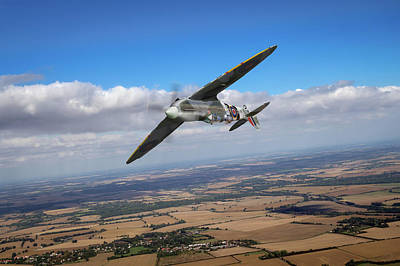 Poster featuring the photograph Spitfire Tr 9 On A Roll by Gary Eason