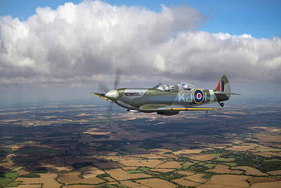 Poster featuring the photograph Spitfire Tr 9 Sm520 by Gary Eason