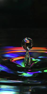 Splash Of Rainbow Poster by David Paul Murray