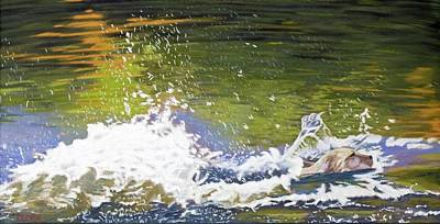 Poster featuring the painting Splash by Robert Decker