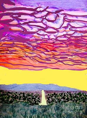 Splashing Purple Sky  Poster