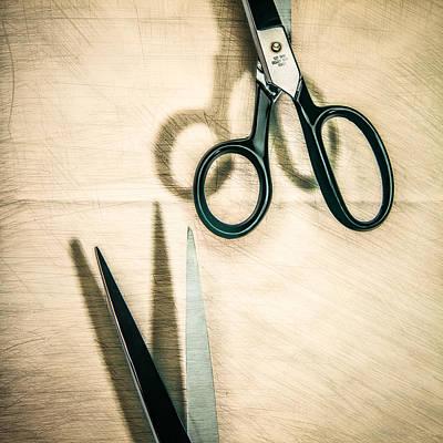 Split Forget Shears Poster by Yo Pedro