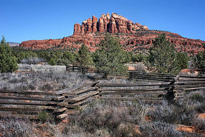Split Rail Fence - Sedona - Arizona Poster