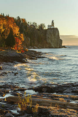 Split Rock Lighthouse At Sunrose Poster