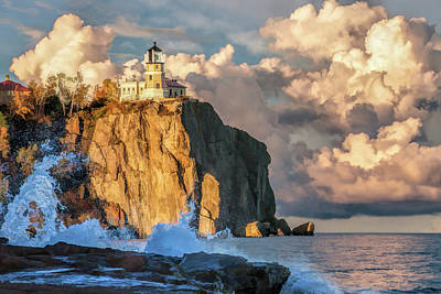 Poster featuring the painting Split Rock Lighthouse by Christopher Arndt