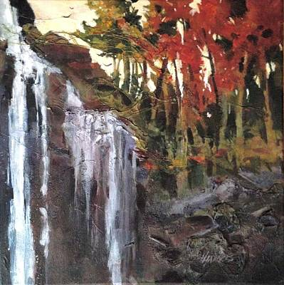 Poster featuring the painting Splitrock Falls by Helen Harris