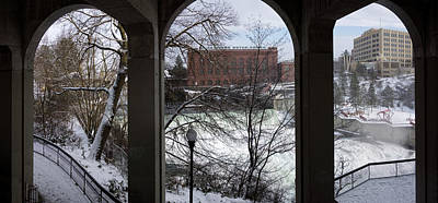 Spokane Falls Winter Triptych Poster
