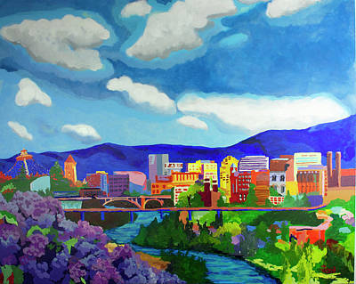 Spokane In Color Poster by Tracy Dupuis Roland