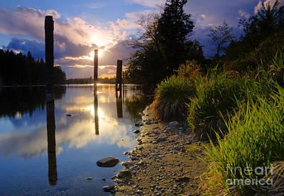 Spokane River Poster by Idaho Scenic Images Linda Lantzy