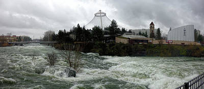 Spokane River Peak Flood Stage - Spring 2017 Poster