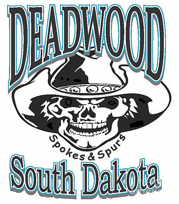 Spokes And Spurs Deadwood South Dakota Poster