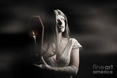 Spooky Gothic Girl In Haunted Horror House  Poster by Jorgo Photography - Wall Art Gallery