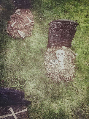 Spooky Grave Stones Poster by Tom Gowanlock
