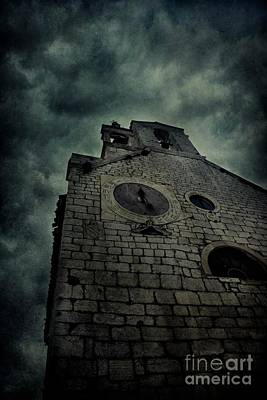 Spooky Medieval Church Poster