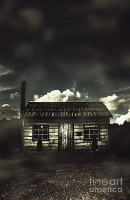 Spooky Old Abandoned House In Dark Forest Poster by Jorgo Photography - Wall Art Gallery