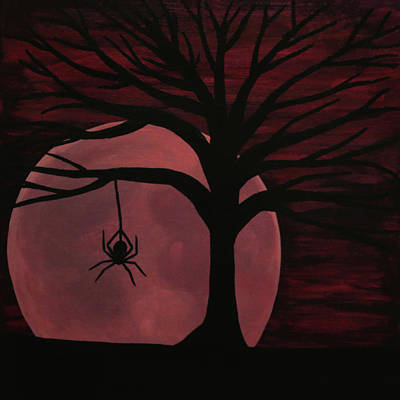 Spooky Spider Tree Poster