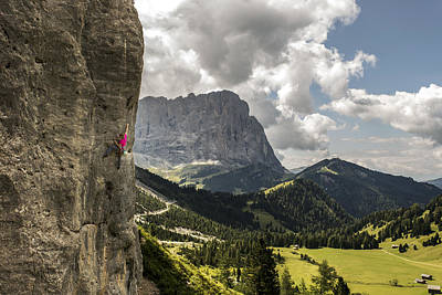 Sport Climbing In The Dolomites Poster