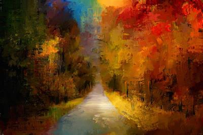 Spotlight On Autumn Poster by Jai Johnson