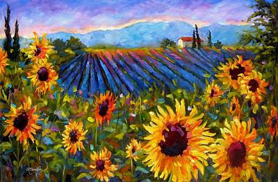 Poster featuring the painting Spread A Little Sunshine by Chris Brandley