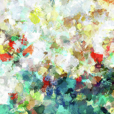 Poster featuring the painting Spring Abstract Art / Vivid Colors by Ayse Deniz