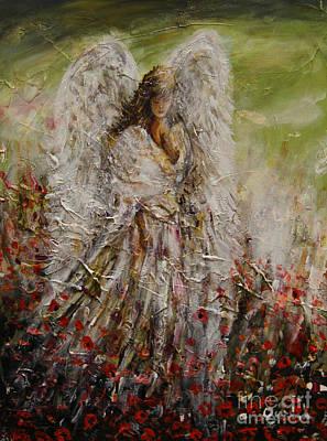 Spring Angel Poster