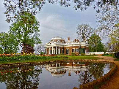 Spring At Monticello Poster