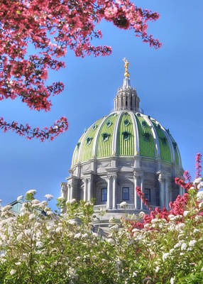 Spring At The Capitol Poster by Lori Deiter