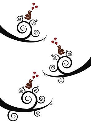 Spring Birds Poster by Frank Tschakert