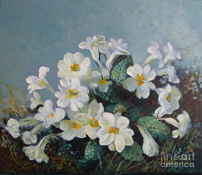Poster featuring the painting Spring Blooms by Elena Oleniuc