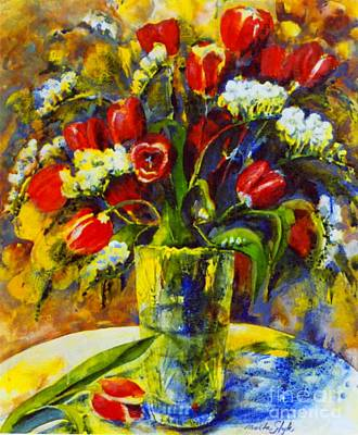 Poster featuring the painting Spring Bouquet by Marta Styk