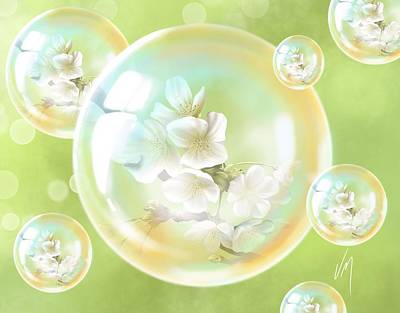 Spring Bubbles  Poster by Veronica Minozzi