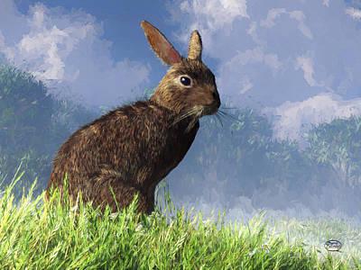 Spring Bunny Poster by Daniel Eskridge