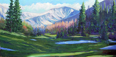 Poster featuring the painting Spring Colors In The Rockies by Billie Colson