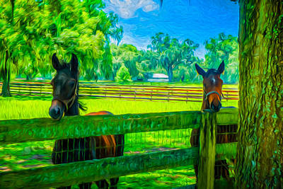 Poster featuring the painting Spring Colts by Louis Ferreira