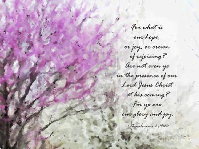 Spring Confetti - Verse Poster by Anita Faye