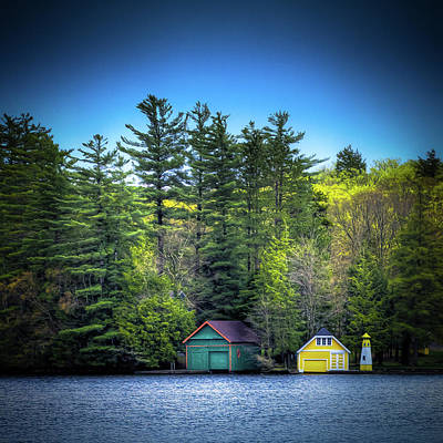 Spring Day At Old Forge Pond Poster by David Patterson