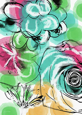 Poster featuring the mixed media Spring Floral 9- Art By Linda Woods by Linda Woods