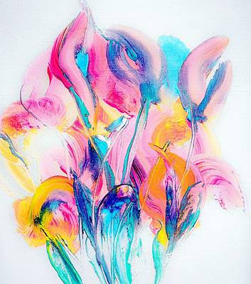 Spring Floral Abstract Poster by Lisa Kaiser