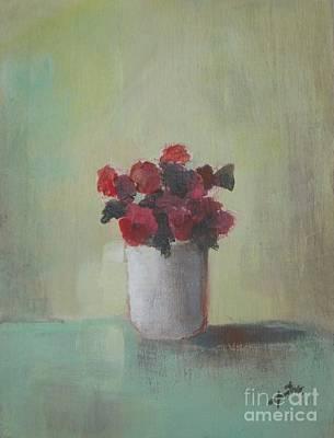 Spring Flowers In White Vase Poster