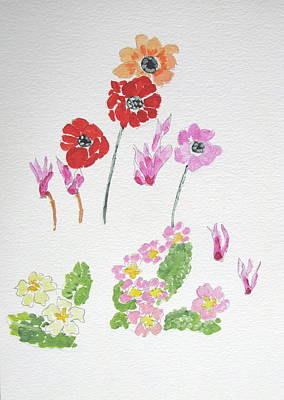 Spring Flowers Poster by Maria Joy