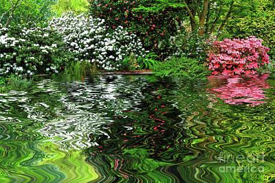 Spring Garden Around Pond By Kaye Menner Poster